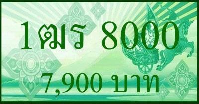 ขายทะเบียน 1ฒร 8000,1ฒร 8000, ขายทะเบียนกะบะ 8000,ทะเบียนกะบะ 8000