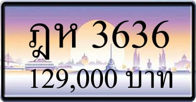 ขายทะเบียน ฎห 3636