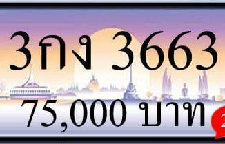 ขายทะเบียน 3กง 3663