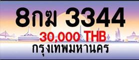 ขายทะเบียน 8กฆ 3344