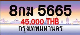 ขายทะเบียน 8กฆ 5665