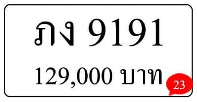 ขายทะเบียน ภง 9191